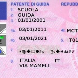 Patente-di-guida-card